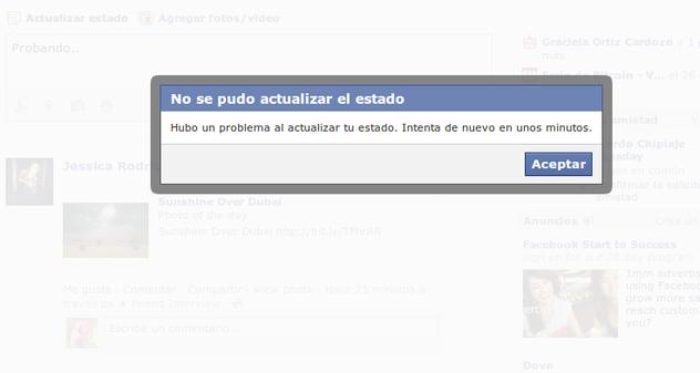 facebook fuera de servicio