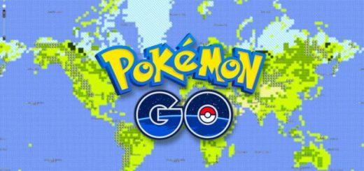 Pokemon GO mapa mundial 8 bits