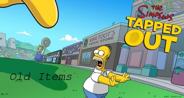 MOD Old Items y donas gratis Los Simpson: Springfield 4.8.3