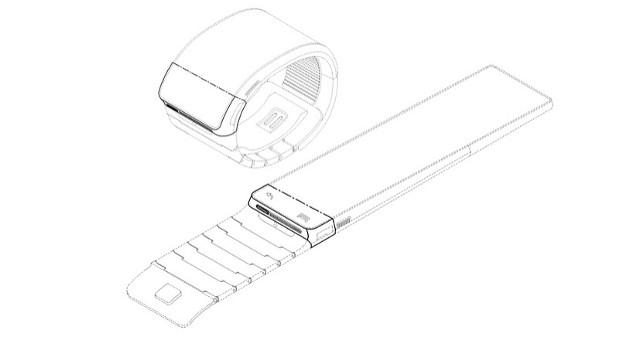 samsung reloj inteligente de pantalla flexible