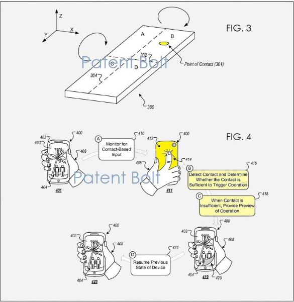 Patente touch trasero Google