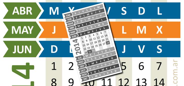 Calendario Reducido 2014
