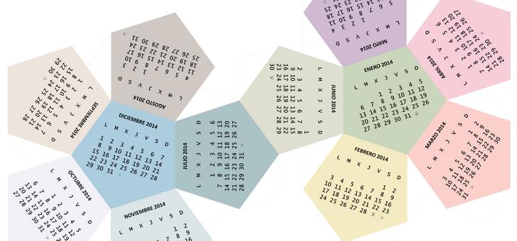 Calendarios 2014 para imprimir