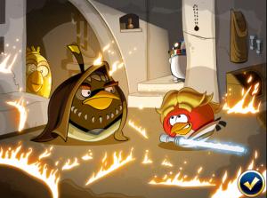Angry Birds Star Wars - luke y obi wan kenobi
