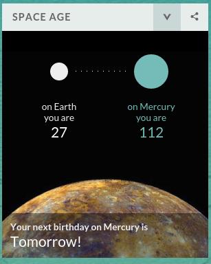 ¡Mañana cumplo años en Mercurio!