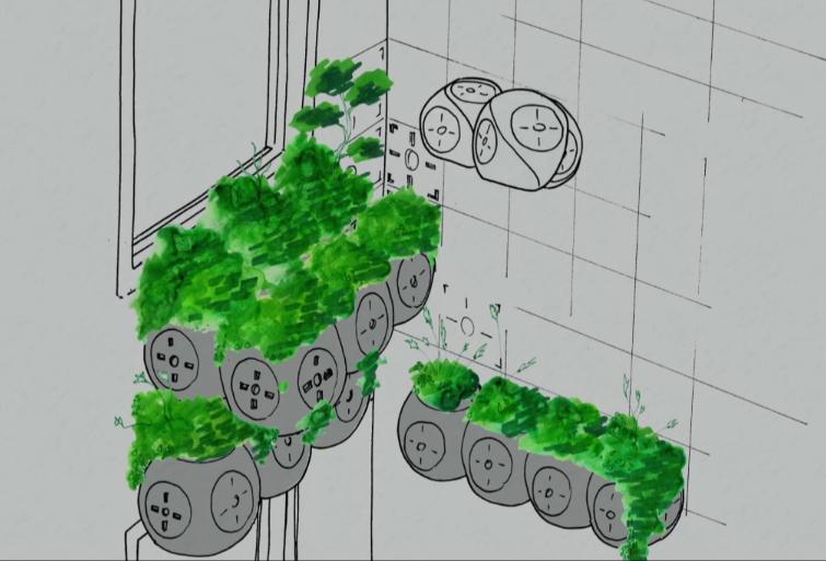 Roombots jardineros