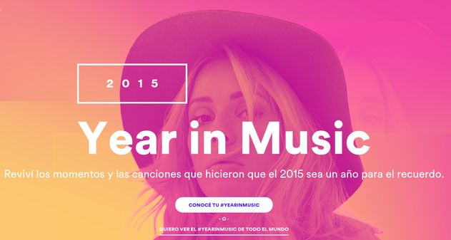 Year in Music Spotify 2015