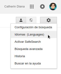 cambiar idioma google
