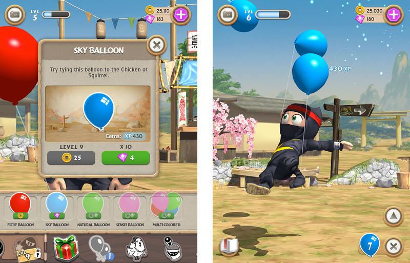 clumsy ninja globos