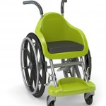 concepto de silla de ruedas para chicos