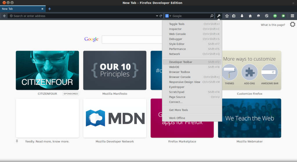 Firefox Dev Ed