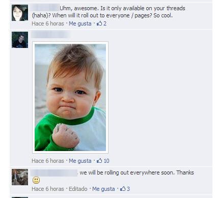 fotos en los comentarios de facebook