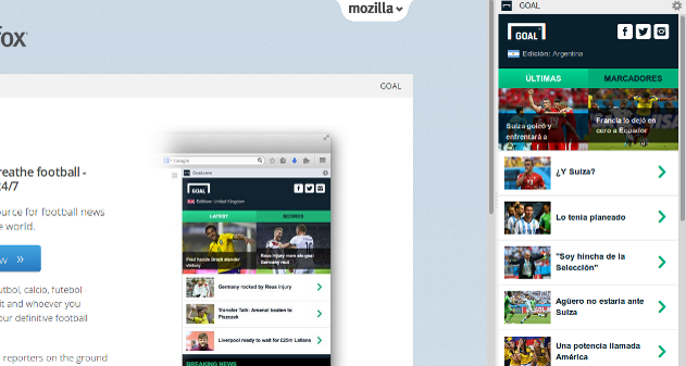 Photo of Firefox y Goal te acercan todas las noticias del mundial al navegador