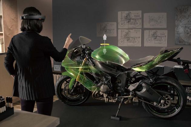 hololens - motocicleta
