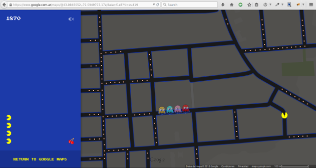 Photo of Juega al PacMan en Google Maps
