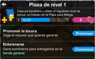 plaza de nivel 1