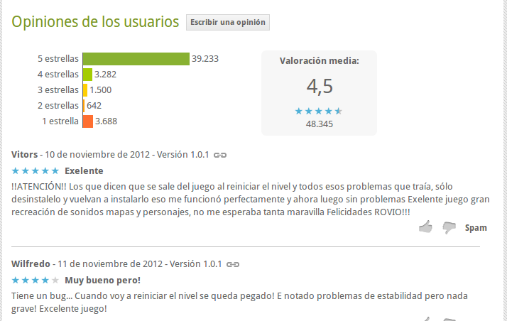 puntuación angry birds star wars - google play