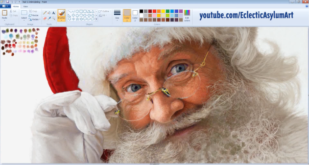 Photo of [Video] Diseño de Santa Claus increíblemente realista con MS Paint