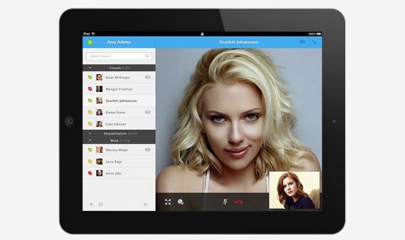 Photo of Diseño conceptual para Skype en tablets