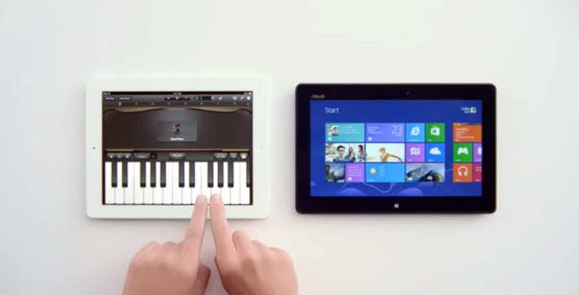 spot publicitario windows 8 vs ipad