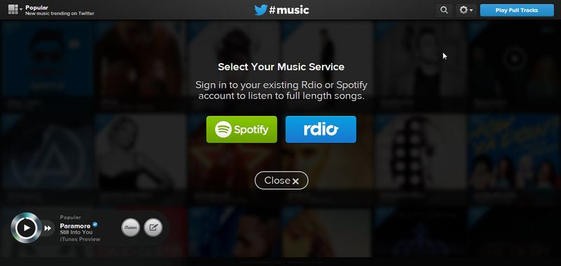 twitter-music-servicio