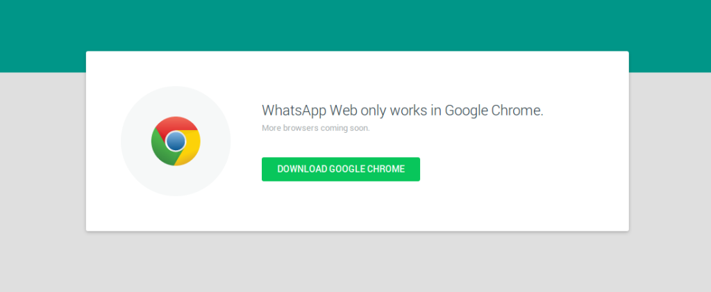 whatsapp web - google chrome